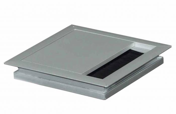 Kabeldurchlass 100 x 100 x 13 mm Aluminium