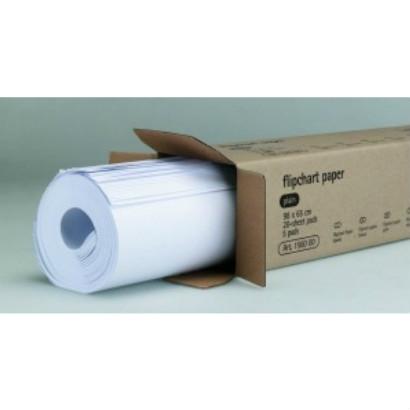 Flipover-Papier leer, 20 Blatt à 5 Stück pro Karton