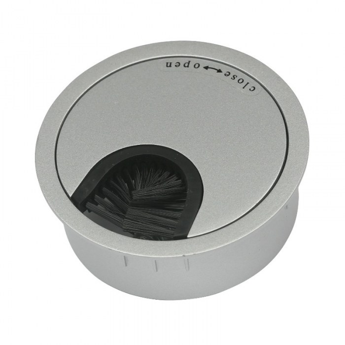 Kabeleinführung Metall Ø 60 mm Aluminium