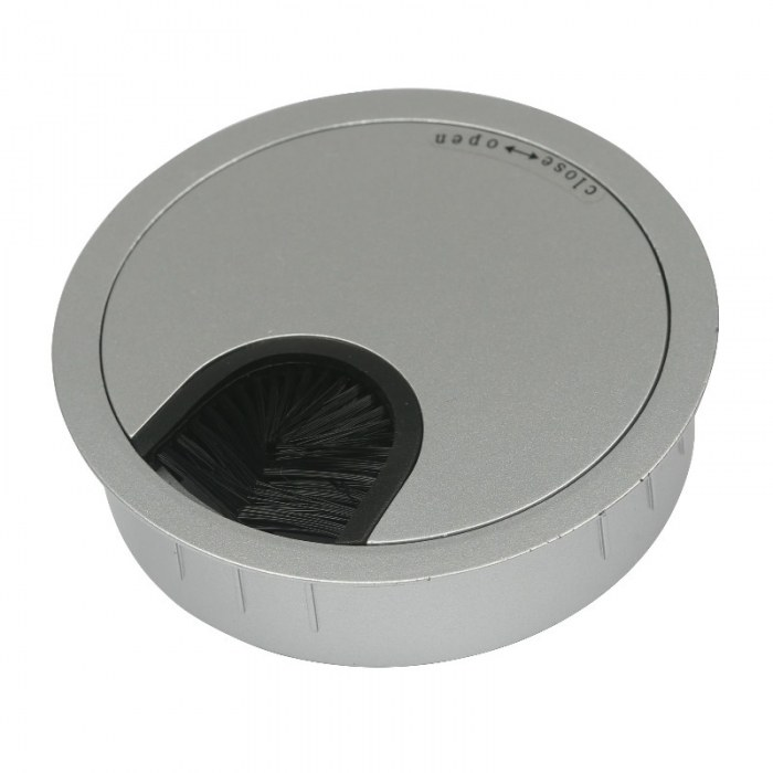 Kabeleinführung Metall Ø 80 mm chrom matt