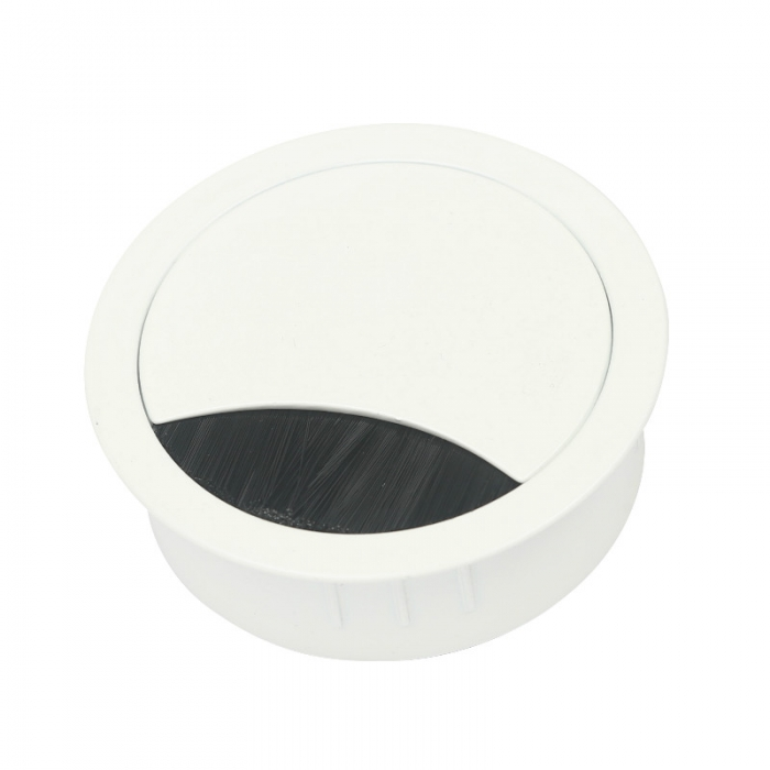 Kabeldurchführung Metall Ø 60 mm weiß lackiert