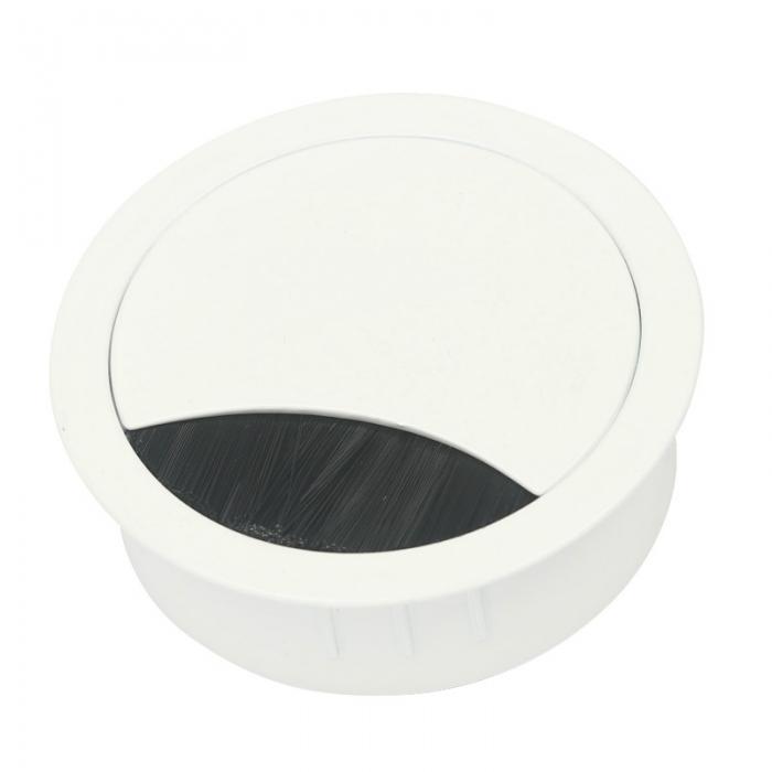 Kabeldurchführung Metall Ø 80 mm weiß lackiert