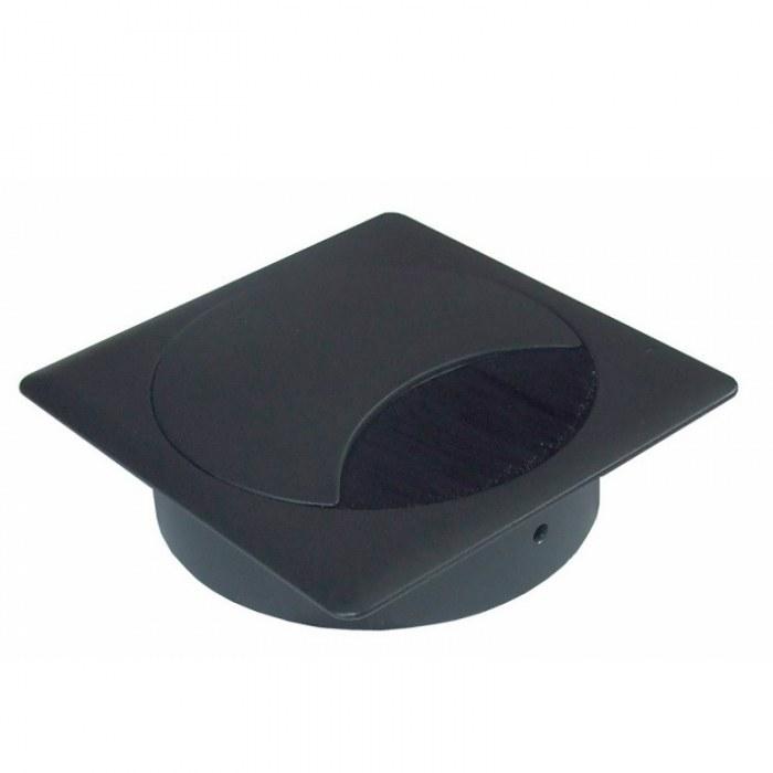 Kabeleinführung Metall quadratisch schwarz