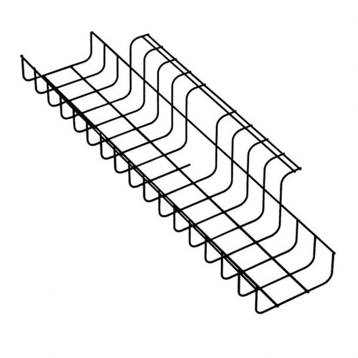 Kabelkanal TRAD 490 mm schwarz