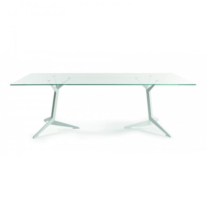 Viasit TRI Konferenztisch 200 x 100 cm Glasplatte