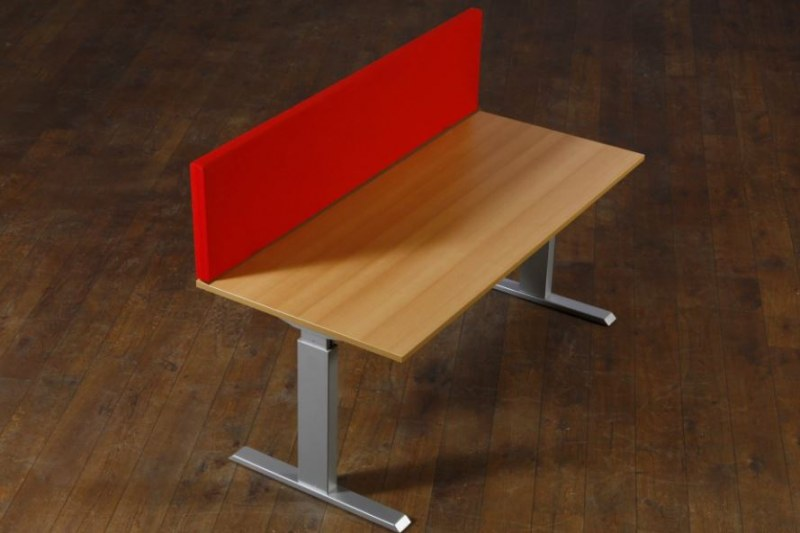 Akustische Schreibtisch-Trennwand B-MoVe 1200x350 mm