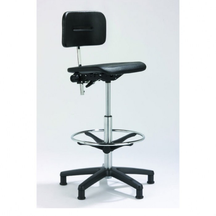 Counter Stuhl Polyurethan schwarz