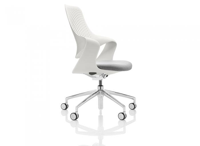 Boss Coza Bürostuhl weiße Rückenlehne