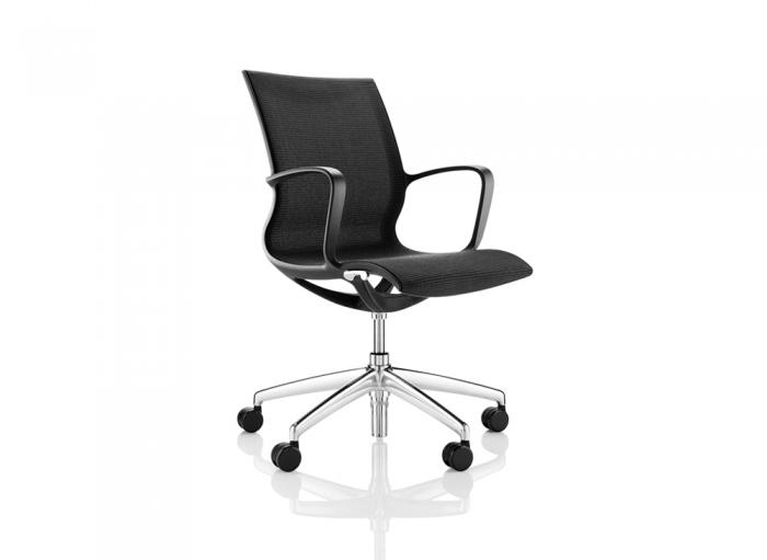 Boss Kara Schreibtischstuhl mit poliertem Fahrgestell