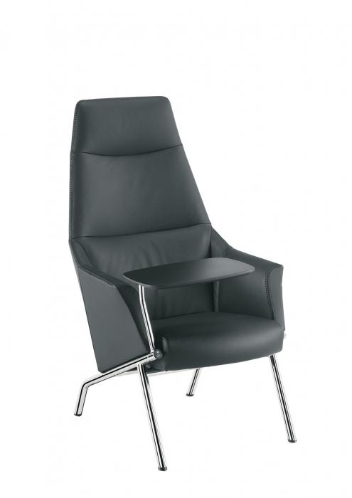 Sesta DAMA plain Lounge Sessel mit 4 Beinen