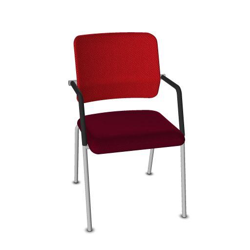 Viasit Drumback Konferenzstuhl 4-Bein telegrau