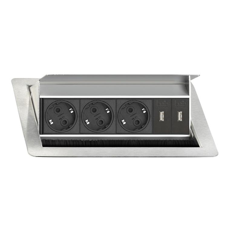 Evoline Eingebaute Powerbox Flip Top Push Medium 3x Leistung 2x USB Ladegerät