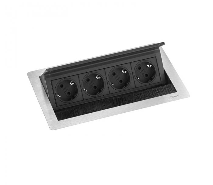 Evoline Eingebaute Powerbox Flip Top Push Medium 4x Leistung