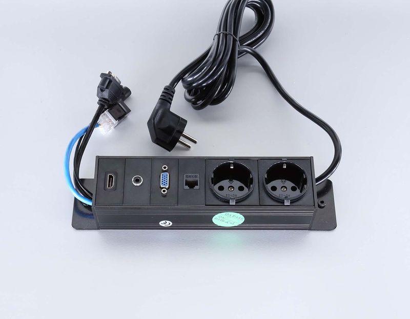 Götessons Powerinlay 2 x Leistung + 1 x Daten + 1 x VGA + 1 x Audio + 1 x HDMI