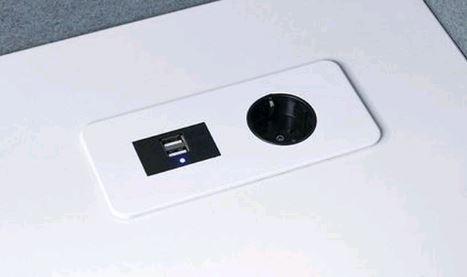 Gotessons Table Top SLIM 1x Leistung  2x USB Ladegerät