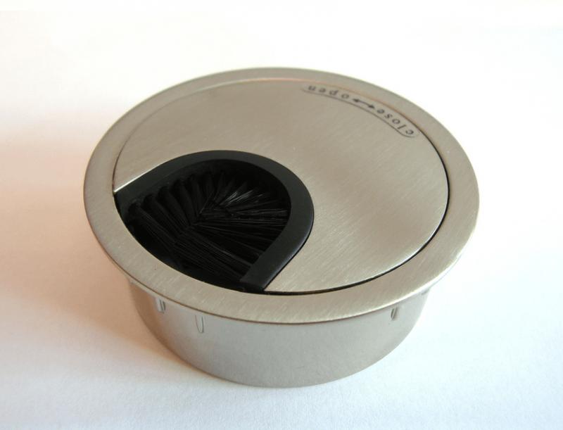 Kabeleinführung Metall Ø 60 mm chrom matt