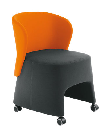 Sesta Blog Tub Lounge Sessel auf Rädern