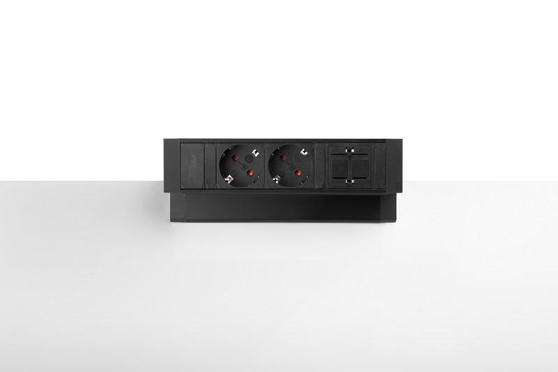 Thovip Power Desk Up 2x Power + 1 x leeres Modul