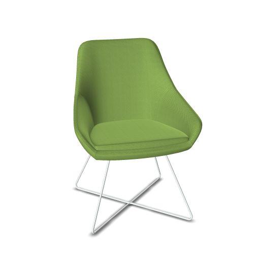 Viasit Calyx Lounge Chair Kreuzschlittengestell