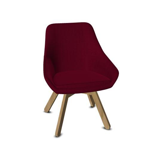 Viasit Calyx Lounge Chair Gestell Eiche