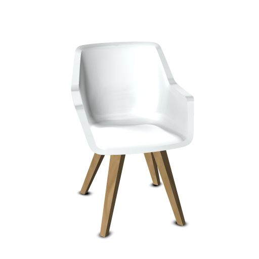 Viasit Repend Lounge Chair Eiche Beine